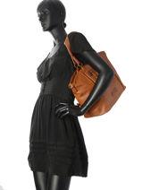 Shoulder Bag A4 Raphael Fuchsia Brown raphael F9737-2-vue-porte