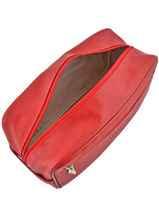 Longchamp LE FOULONNÉ BICOLORE Toiletry case Red-vue-porte