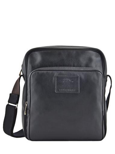 Longchamp Baxi cuir Besace Noir