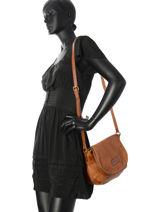 Crossbody Bag Raphael Fuchsia Brown raphael F9737-4-vue-porte