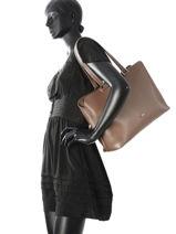 Longchamp Sac porté travers Marron-vue-porte