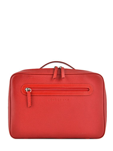 Longchamp Le foulonné Toiletry case Red