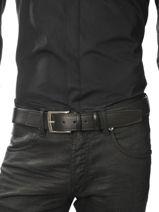 Belt Adjustable Petit prix cuir Black sport H400T-vue-porte