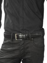 Belt Adjustable Petit prix cuir Black sport 3841T-vue-porte