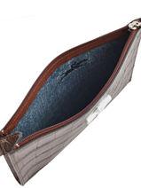 Longchamp Roseau Croco Pochette/trousse Marron-vue-porte