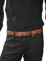 Belt Adjustable Petit prix cuir Brown classic 937-vue-porte