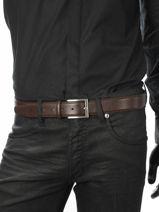 Belt Adjustable Petit prix cuir Brown sport 1051-vue-porte
