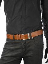 Belt Adjustable Petit prix cuir Brown sport 1740T-vue-porte