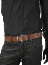 Belt Adjustable Petit prix cuir Brown classic 2375T-vue-porte
