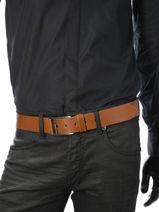 Belt Adjustable Petit prix cuir Brown sport 4083-vue-porte