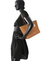Shoulder Bag Turnlock Chain Tote Coach Brown tote 57107-vue-porte