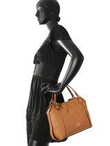 Crossbody Bag Edie 28 Leather Coach Brown edie 57124-vue-porte