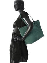 Shoulder Bag Market Tote Leather Coach Blue tote 59503-vue-porte