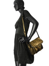 Sac Bandouliere Night Night Cuir Milano Or night night 1007NN-vue-porte