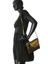 Sac Bandouliere Night Night Cuir Milano Or night night 1011NN-vue-porte