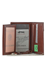 Wallet Leather Francinel Brown 17914-vue-porte