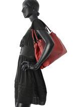 Shoulder Bag Coach Red edie 57125-vue-porte