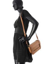 Crossbody Bag Exie Guess Beige exie TG686021-vue-porte