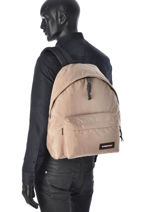 Backpack 1 Compartment A4 Eastpak Beige pbg authentic PBGK620-vue-porte