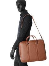 Longchamp Le foulonné Serviette Marron-vue-porte
