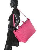 Longchamp Le foulonné Travel bag Pink-vue-porte