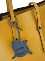 Bijoux De Sac Sharky Coach Blue bag charms 21518-vue-porte