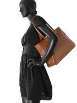 Longchamp Le foulonné Hobo bag Brown-vue-porte