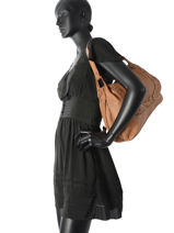 Hobo Bag Studs Leather Basilic pepper Brown studs BSTU05-vue-porte