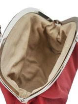 Purse Leather Hexagona Red coconut E77214-vue-porte