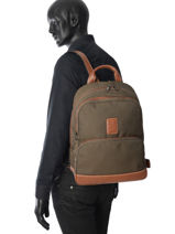 Longchamp Boxford Sacs à dos Vert-vue-porte