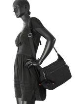 Shoulder Bag Kipling Black 15255-vue-porte