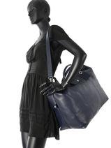 Longchamp Le foulonné Sacs de voyage Bleu-vue-porte