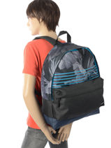 Backpack 1 Compartment Quiksilver Black youth access QYBP3406-vue-porte