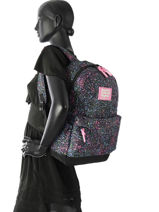 Sac à Dos 1 Compartiment Superdry Noir backpack woomen G91008NQ-vue-porte