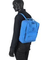 Backpack Kånken 1 Compartment Fjallraven Blue kanken 23548-vue-porte