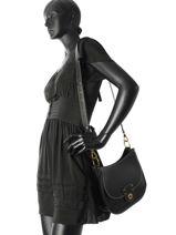 Shoulder Bag Millbrook Leather Lauren ralph lauren Black millbrook 31687503-vue-porte