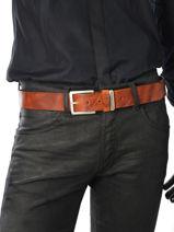 Ceinture Redskins Marron belt FARGO-vue-porte