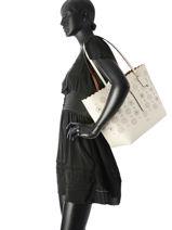 Shoulder Bag Tote Leather Coach White tote 25195-vue-porte