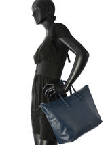 Top Handle L.12.12 Limited Leather Lacoste Blue l.12.12 limited NF2519LD-vue-porte