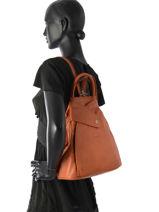 Backpack Hexagona Brown sauvage 414775-vue-porte