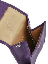 Key Holder Leather Katana Violet daisy 553025-vue-porte