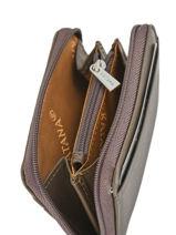 Purse Zippered Leather Katana Brown daisy 553042-vue-porte