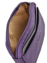 Purse Zippered Leather Katana Violet daisy 553066-vue-porte