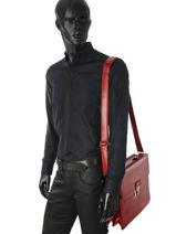 Briefcase 2 Compartments Etrier Red 63041-vue-porte