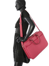 Briefcase Hexagona Pink confort 464837-vue-porte