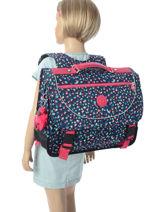 Satchel 2 Compartments Kipling Gray back to school / pbg PBG12074-vue-porte
