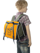 Satchel 1 Compartment Ikks Yellow backpacker in tokyo 18-35836-vue-porte