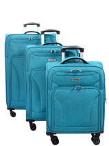 Luggage Set Snow Travel Blue snow 12208LOT