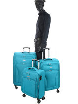Lot De Valises Snow Travel Bleu snow 12208LOT-vue-porte