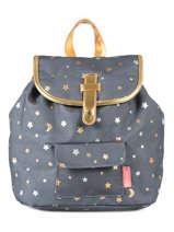 Backpack Mini Kidzroom Gray gold rush 30-8452